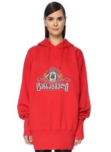 Vetements Sweatshirt Kırmızı